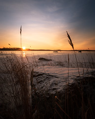 Sunrise! (laurilehtophotography) Tags: suomi finland jyväskylä winter winterwonderland landscape nature morning sunrise clouds nikon d750 tamron 2470mm snow ice lake photography