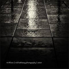 January weather (rick hathaway photography) Tags: rhfo2o galaxy galaxys10 norwich norflok reflections light rain wet pavement bw blackandwhite mono