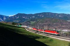 ÖBB 1144 083 + 1142 587 + 1144 112, Eichberg (Paha Bálint) Tags: öbb1144 öbb semmering semmeringbahn austria freighttrain train güterzug öbb1142