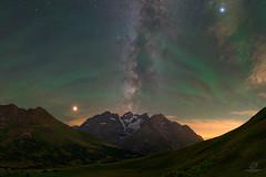 Airglow au Col du Lautaret (Maxime Oudoux Photographie) Tags: space stars astrophotography night nightscape milkyway nuit etoiles voielactee airglow