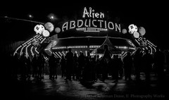 Alien Abduction (Luther Roseman Dease, II) Tags: monochrome night light darkened depth lowkey angle bw movement outdoors people contrejour silhouette contrast skancheli noireetblanc narrative streetphotography negroyblancofotografie mood form