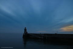 I want to encapsulate this moment forever (erlingraahede) Tags: poetic quite sunset piers sea normandy blue forever feeling mood evening light nofilters canon raahedep fecamp summer france