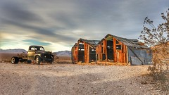 Here today, gone tomorrow (Gunn Shots (On and off these days)) Tags: rhyolitenevada rhyolite nevada death valey ghosttown desert vintagecar