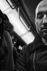Métro (rainerneumann831) Tags: bw blackwhite street streetscene ©rainerneumann urban monochrome candid city streetphotography blackandwhite paris métro mann