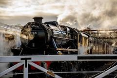 Low winter light (nickym6274) Tags: nenevalleyrailway nenevalley peterborough wansfordstation uk nvr steamtrain train stanierclass 1945 crewe williamstanier thefenman 44871 steam