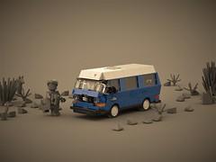 A moc is a journey... (ron_dayes) Tags: lego vw t3 moc minifigure scale westfalia