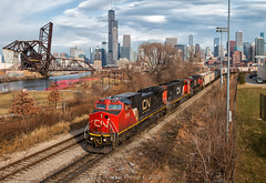 Standard 18th St. (Carlos Ferran) Tags: cn canadian national train trains ge c408w locomotive chicago ic illinois central urban city chinatown sears tower saint charles air line 18th street