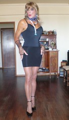 Karen (Karen Maris) Tags: tg tgirl tgurl mtf karen transvestite transsexual transgender heels blonde pantyhose hose tights collants tranny sheer crossdresser crossdress