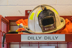 19-8802 (George Hamlin) Tags: virginia chantilly washington dulles international airport iad firehouse hard hat badge battalion chief singed smoky dilly firefighting protective equipment photodecor george hamlin photography
