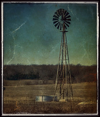 Faded memory.... (Sherrianne100) Tags: fading lonely rural farm windmill ozarks missouri