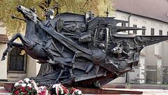 strange fate of that strange monument (marek&anna) Tags: krakow kraków monument statue janiiisobieski sobieski kahlenberghill vienna controversial czesławdźwigaj michaelludwig touringexhibition