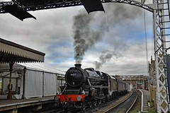 About to leave (nickym6274) Tags: nenevalleyrailway nenevalley peterborough wansfordstation uk nvr steamtrain train stanierclass 1945 crewe williamstanier thefenman 44871 steam