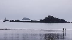 Je marche fort (PhlippeC.) Tags: fort sillon saintmalo bretagne mer sea plage beach monochrome balade reflets reflections