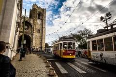 Lisbon's Cathedral, Lisbon, Portugal (Davide Tarozzi) Tags: lisbonscathedral lisbon portugal lisbona lisboa portogallo cattedrale tram cathedral