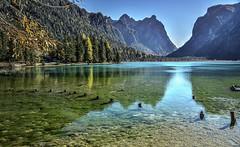 Dobbiaco (giannipiras555) Tags: lago trentino altoadige dolomiti montagna panorama paesaggio lanscape acqua riflessi autunno alberi natura nikon