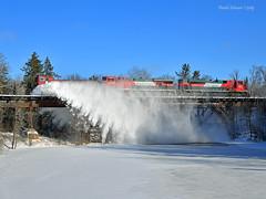 Prairie River Dusting (Missabe Road) Tags: bnsf 940027 fxe snowdozer prairieriver lakessubdivision ferromex