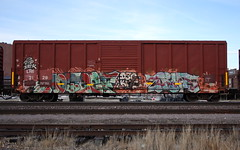 Noteef/True (quiet-silence) Tags: graffiti graff freight fr8 train railroad railcar art noteef true xmen kwt d30 dirty30 boxcar lrs lrs2128
