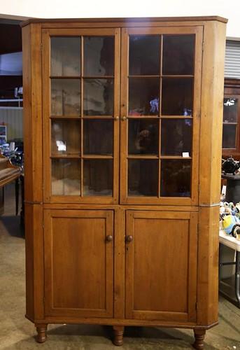 Highland County Walnut 16 pane corner cupboard (from old Hevener log house) ($1,568.00)