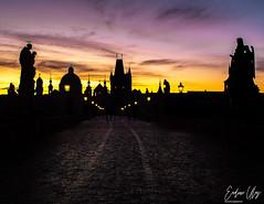 Karlův most, Prague (✦ Erdinc Ulas Photography ✦) Tags: karlůvmost prague landmark architecture old ancient travel europe sunrise morning colourful bridge charlesbridge czechrepublic czech dark shadow statue black tower lights city lenstagger