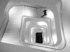 CaixaForum (Txeny4) Tags: caixaforum madrid escalera street blancoynegro black white olympus penf 17mm 18