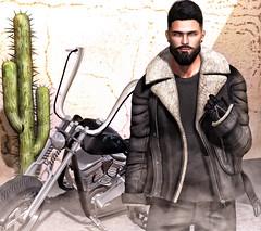 [ 📷 - 270 ] (insociable.sl) Tags: navajo magnificient harleydavidson harley smoke cigarette raider model motorcycle beard boy man male edit sl secondlife