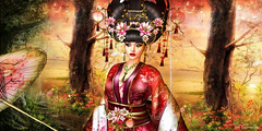 CHINA EMPRESS ... (irrISIStible shop) Tags: china chinese newyear new year empress japan japanese women clothes goddess maitreya belleza slink isis hourglass appliers mesh necklace earrings headpiece lotus flowers jewels shoes hairs kimono freya venus irrisistible shop design fashion sl second life secondlife roleplay rp costume princess silk beauty fantasy