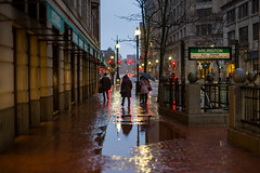 EA105206 (sswee38823) Tags: cityscape wet rain shiny reflection reflections people silhouette silhouettes mbta umbrella tstation arlingtonstreet commuters sidewalk brick trainstation tstop winter boston bostonma streetsofboston street city ma massachusetts leica leicam leicacamera leicacamerausa m10 m10leica leicam10 leicacameraagleicam10 noctiluxm50mmf095asph noctiluxm109550mmasph noctilux095 noctilux noc noctiluxm109550asph leicanoctiluxm50mmf095asph 095 f95 leica50mmf95 50mm 50 morning rangefinder photography photograph photo seansweeney seansweeneyphotographer