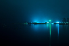 Petrozavodsk Port (gubanov77) Tags: night landscape longexposure lake onegalake onegaembankment petrozavodsk karelia kareliarepublic petrozavodskport port russia russiannorth light nightlight nightreflection water pier ships boat blue
