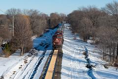 Corn in Crystal (shawn_christie1970) Tags: crystal minnesota unitedstatesofamerica corn winter canadianpacific spill train railroad cp8632 ge ac44cw spilledcorn cppaynesvillesub