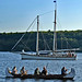 War Canoe and The Schooner Huron Jewel in the Battle of Georgian Bay - Grand Tactical