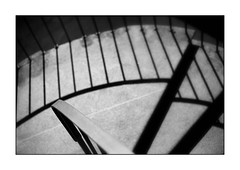 banisters abstract (Armin Fuchs) Tags: arminfuchs banisters lavillelaplusdangereuse würzburg shadows diagonal niftyfifty stairs universität röntgenring