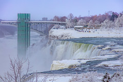 Winter at Niagara Falls (Notkalvin) Tags: niagarafalls niagara waterfall falls notkalvin mikekline outdoors winter cold ice iced icy observationdeck river touristdestination tourism internationalborder newyork canada
