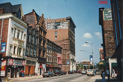 Wheeling  Ohio  - UnitedStates  - Main Street - Central Union Building - Photo 1995 (Onasill ~ Bill Badzo - 68 Million Views) Tags: central union building 4 hour telephone anserwing service ghostsigns hotel nrhp district historic landmark mainstreet ohio river steamboats westvirginia marshallcounty 1995 old photo vintage ohiocounty foothills appalachian mountains british colony commonwealth scanned onasill wheeling wv skyscraper early bank uniontrust quarter saving trust company bankplaza wesbanco architecture style beauxarts