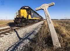 Crossing Borders (Seven Tracks Photography) Tags: watco train railroad locomotive photography indiana outdoor january sunny