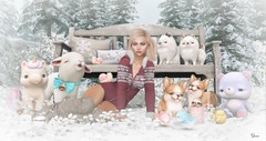 Life is.... (msbooodoolittle) Tags: secondlife mishmish neve photography animals furbabies life friends family entwined whatnext winter snow trees pinetrees foxcity unicorn