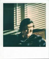 Light and Shadow - Film Polaroid (Photo Alan back Feb 12) Tags: instantfilm instant polaroid polaroidsx70alpha1 film filmcamera filmscan vancouver canada people shadow shadowplay