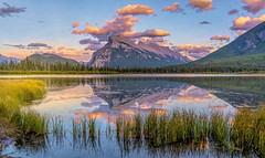 Sunset clouds bathing Lake Vermillion Banff (Flight of life) Tags: landscape mountains reflection refevtion baniff lake vermillion