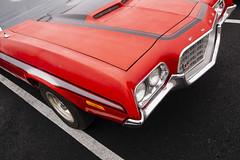 Gran Ranchero (GmanViz) Tags: gmanviz color sonya6000 car automobile vehicle detail ford ranchero 1971 1972 fender bumper grille hood stripes columbuscarscoffee