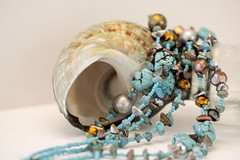 "Nature's jewels (Karon Elliott Edleson) Tags: macro closeup beads turquoise shell seashell ""smileonsaturday"" necklace jewelry"