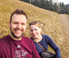 relaxing (ekelly80) Tags: germany bavaria tegernsee december2019 winter hike walk trail path outside relaxing resting bench selfie