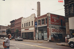 Wheeling Ohio  - United States - Downtown - McCrory - Ghost Sign - Memories - Photo 1995 (Onasill ~ Bill Badzo - New Format) Tags: woolworth store mccory 5to10 billbadzo old vintage photo mainstreet downtown druggist ghost signs wheeling wv westvirginia unitedstates redstate trumpstate 2018 fiveanddimestores mccrory architecture style artdeco ohio steamboats sign coca cola coke beall 5 cent drugs everywhere ghostsigns