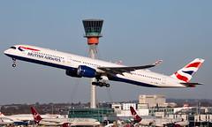 G-XWBA - Airbus A350-1041 - LHR (Seán Noel O'Connell) Tags: britishairways ba speedbird gxwba airbus a3501041 a350 a35k a351 heathrowairport heathrow lhr egll yyz cyyz ba93 baw9l aviation avgeek aviationphotography planespotting