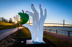 'Eve's Apple' (Neil Cornwall) Tags: 2020 canada detroitriver january ontario windsor sunset