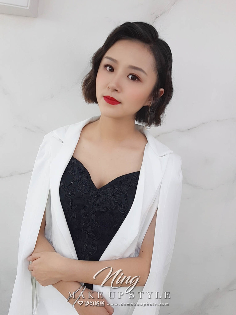 【新秘羽寧】新娘造型創作 / 短髮-巨星風