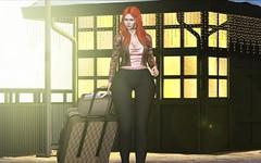 ♚ #841 ♚ (Caity Saint) Tags: vision tableauvivant secretposes genus maitreya sl secondlife bento pixels redhead doll backdrop trip
