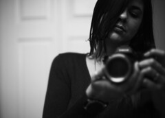 I'm still here y'all.. (Sarah Rausch) Tags: rikenon5514 vintageglass sony self selfportrait reflection 14 1 blackandwhite monochrome bw grainy mood sonya7ii