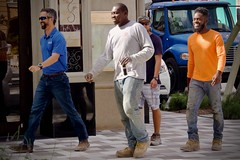 Four For the Site (LarryJay99 ) Tags: people studly guys dudes man guy virile male manly men dude friendsofdiversity handsome workman worksite menatwork sunglasses workboots boots jeans fadedjeans walking talking streets urban urbanites urbannomads facialhair beards mustache goatees