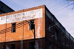 Red Bell Brewing Company (Dalliance with Light (Andy Farmer)) Tags: philly philadelphia slidefilm unicolorrapide6kit brewerytown rolleiflex film fujifilmprovia100f pennsylvania unitedstatesofamerica