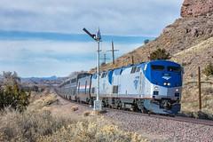 Amtrak Los Cerillos, NM (jtrainb) Tags: a4 amtrak bnsf glorietasub nmrx newmexico railroads roadtrip signal passenger semaphore