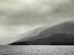 Layers (Mariasme) Tags: blackandwhite monochrome sea island mist patagonia perpetualchallenge friendlychallenges